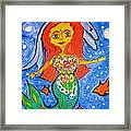 Alexandra's Mermaid Swims With The Dolphins Framed Print