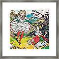 Alice In Wonderland Framed Print by Jesus Blasco