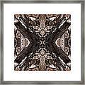 Alien - Tree Bark Art Abstraction Framed Print