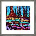 Alizarin Woods Framed Print