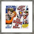 All Hands On Deck, L-r Pat Boone Framed Print