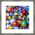 All My Marbles Framed Print