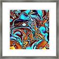 All That Jazz Abstract Framed Print by Faye Symons
