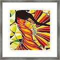 Alysia The Fan Dancer Caye Caulker Belize Framed Print