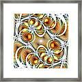 Amber Clusters Framed Print