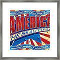 America The Beautiful Framed Print