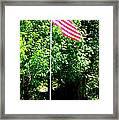 American Flag - Honoring John Framed Print