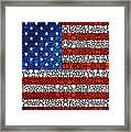 American Flag - Usa Stone Rock'd Art United States Of America Framed Print