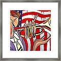 American Jazz Man Framed Print