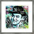 Amir Khan Dhoom 3 Pop Art By Minesh Pankhania Framed Print
