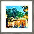 Amsterdam-early Morning - Palette Knife Oil Painting On Canvas By Leonid Afremov Framed Print