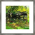 An Old Harvest Wagon Framed Print