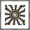 Ananasi Mandala Framed Print