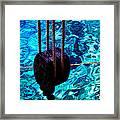 Anchor In Santorini Island Greece  Framed Print