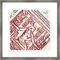 Ancient Historical Abstract Grungy Framed Print