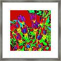 And Violets Are Blue Framed Print by Rebecca Flaig