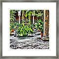 Andalusian Courtyard In Sevilla Spain Framed Print