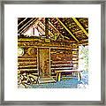 Andrew Berg's Homestead Cabin At Kenai National Wildlife Refuge In Soldotna-alaska Framed Print