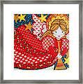 Angel In Red Framed Print