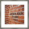Another Brick In The Wall Framed Print
