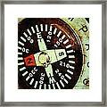 Antique Compass Framed Print