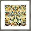 Antique Cutout Of Animals  Framed Print