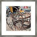 Fayetteville Texas Rings And Wheels Framed Print