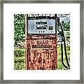 Antique Gas Pump 1 Framed Print