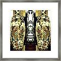 Antique Vases In The Interior Oil Painting On Canvas Framed Print