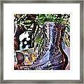 Antique Victorian Boots At The Boardwalk Plaza Hotel - Rehoboth Beach Delaware Framed Print