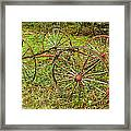 Antique Wagon Frame Framed Print