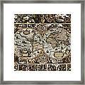 Antique World Map Circa 1670 II Framed Print