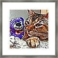 Anya And Friend Framed Print