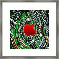 Apple Computer Abstract  Framed Print