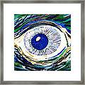 Aqua Eye Framed Print