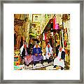 Arab Merchants Of Jerusleum Framed Print