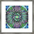 Archangels Gather Mandala Framed Print