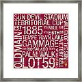 Arizona State College Colors Subway Art Framed Print