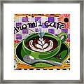 Aroma Cafe Framed Print