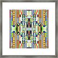 Art Deco Stained Glass 2 Framed Print