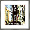 Art Hotel Framed Print