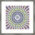 Ascending Eye Of Spirit Kaleidoscope Framed Print by Derek Gedney