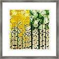 Aspen Colorado 4 Seasons Abstract Framed Print