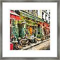 At The Restaurant In Paris Framed Print