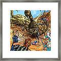 Attacked By Scorpions Framed Print