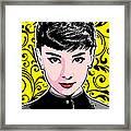 Audrey Hepburn Pop Art Framed Print