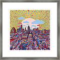 Austin Texas Abstract Panorama 2 Framed Print