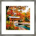 Authentic Covered Bridge Vt Framed Print