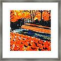 Autumn At The Park. Framed Print