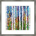 Autumn Birch Trees Abstract Framed Print